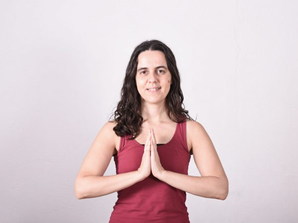 Profesora de yoga. Sílvia Gallego